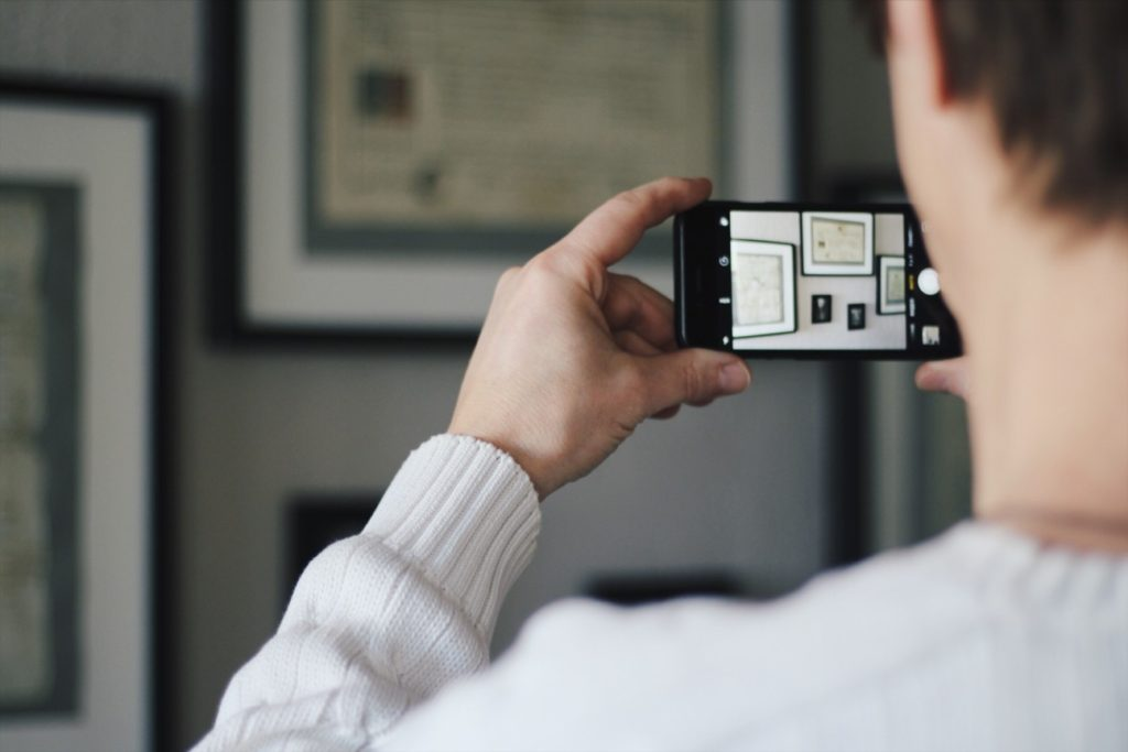 take a photo of your work to post on social media