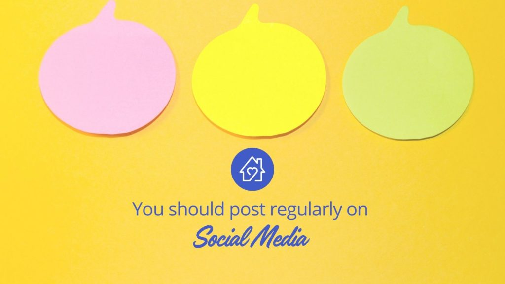 Post-It Notes with text you should post regularly on social media