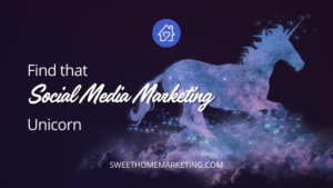find that social media marketing unicorn with an image of a unicorn